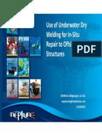 Use Underwater Dry Welding