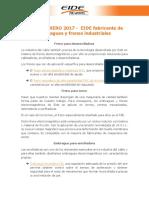 USOS FEBRERO 2017 - EIDE Fabricante de Embragues y Frenos Industriales