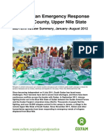 South Sudan Emergency Response in Maban County, Upper Nile State