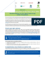 Land Rights Indicators in the Post-2015 SDGs