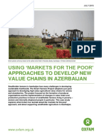 Using 'Markets For The Poor' Approaches To Develop New Value Chains In Azerbaijan
