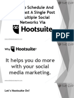 How To Schedule And Broadcast A Single Post To Multiple Social Networks Via Hootsuite