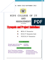 Final Semester Mca Bca Pgdca Project Guidelines