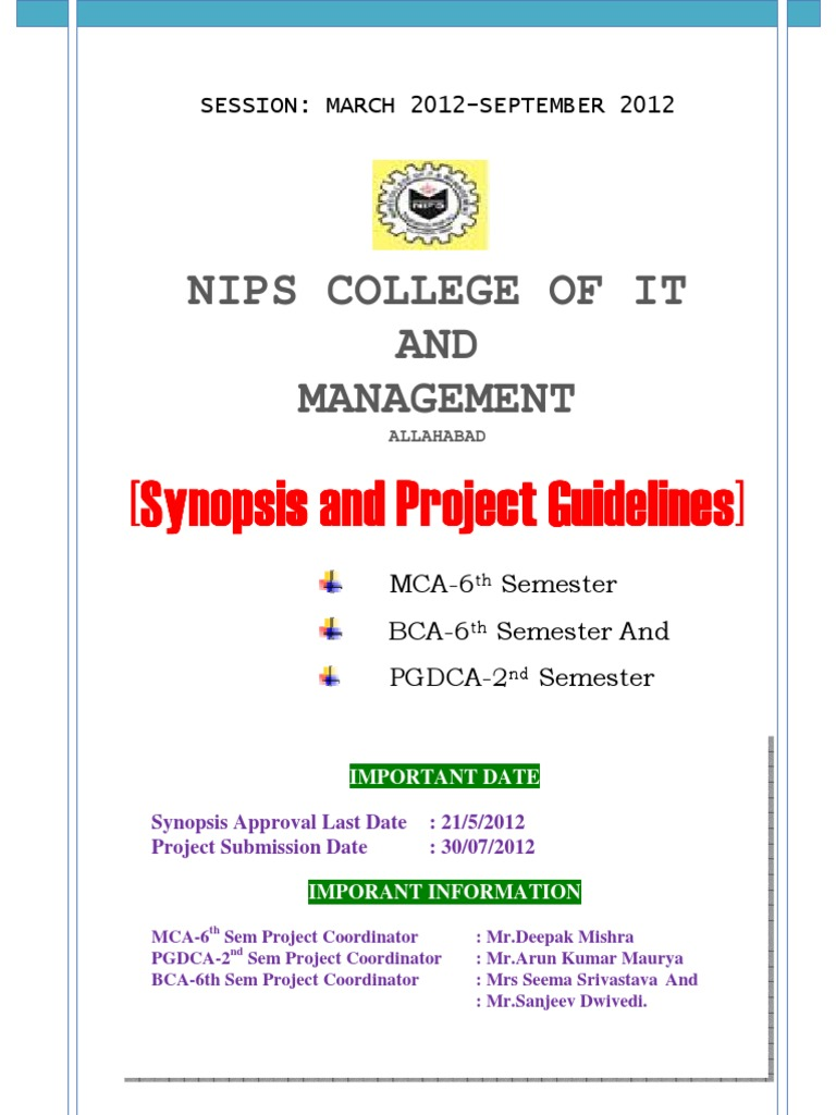 bca 6th sem project free download