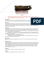 Pirates Master Keyword List