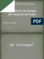 Obținerea de Biogaz Din Dejecții Animale