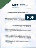 Recomendação PRERJ Nº 01-2016 - Participação Feminina Nas Eleições - Propaganda