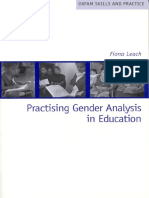 Practising Gender Analysis in Education