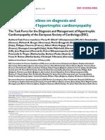 ESC Guidelines Hypertrophic Cardiomyopathy