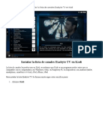 Instalar La Lista de Canales Exabyte TV en Kodi