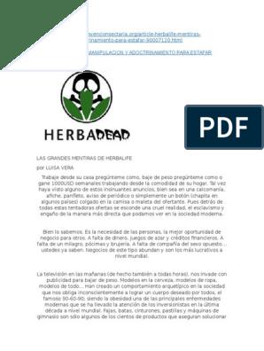 Planilla de control perdida de peso herbalife pdf