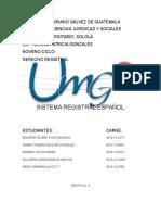 El Sistema Registral Español Grupo 4