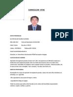 CV Operador de Retroexcavadora