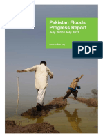 Pakistan Floods Progress Report July 2010 / July 2011