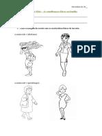 Ficha Semelhanças Físicas