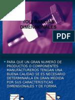 Tolerancias Normas ISO1110 - ANSYASME