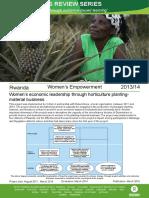 Women's Empowerment in Rwanda