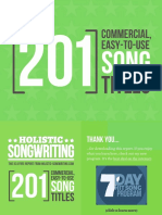 201 Song Titles To Use In Your Songs