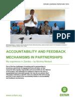 Accountability and Feedback Mechanisms in Partnerships