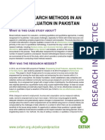 Mixing Research Methods in an Impact Evaluation in Pakistan