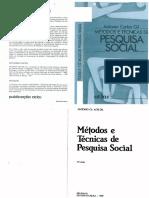 GIL - Métodos e Técnicas Da Pesquisa Social - Reduzido