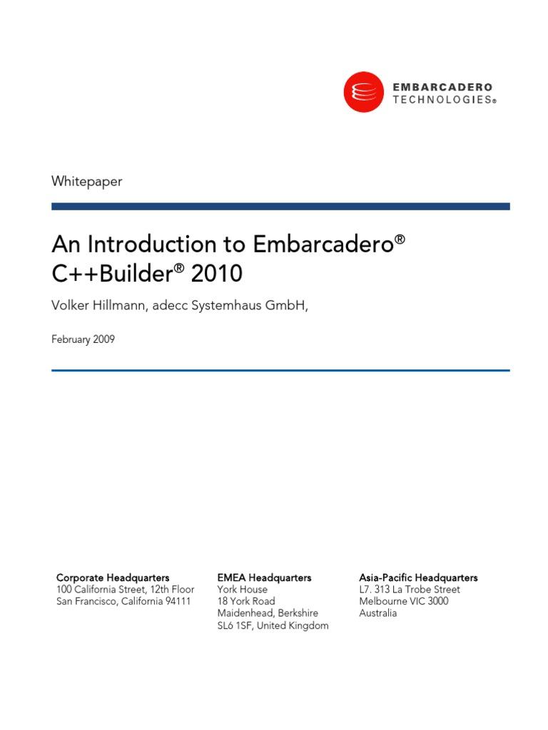 Introduction to Cppbuilder Whitepaper | C++ | C (Programming Language)