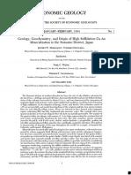Geology, Geochemestry, And Origin of High Sulfidation Cu-Au Mineralization in the Nansatsu District Japan