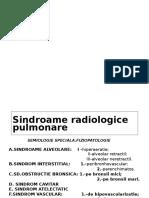 Sindroame Radiologice