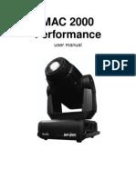 Martin MAC 2k Performance Manual