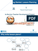 In-Service Teacher Professional Development - Lesson Planning
