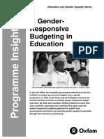 Gender-Responsive Budgeting in Education