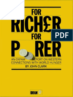 For Richer For Poorer An Oxfam Report On Western Connections With