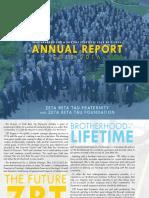 ZBT 2015-2016 Annual Report