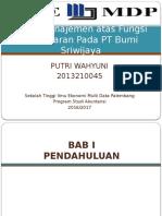 Audit Manajemen Atas Fungsi Pemasaran Pada PT Bumi