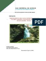 MEJORAMIENTO DEL CANAL DE REGADIO SHAMAYA TACARPO, DISTRITO DE SONDOR, PROVINCIA DE HUANCABAMBA - PIURA