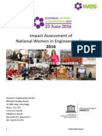 Impact Assessment for NWED 2016