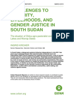 Challenges to Security, Livelihoods, and Gender Justice in South Sudan