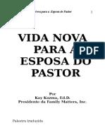 Vida Nova Esposa Pastor