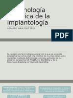 Terminología Genérica de La Implantología