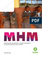 Menstruation and Menstrual Hygiene Management in Selected KwaZulu-Natal Schools
