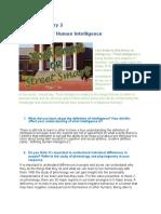 entry 2  human intelligence