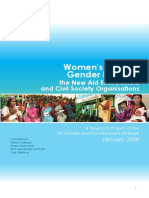 Women's Rights and Gender Equality, the New Aid Environment and Civil Society Organisations