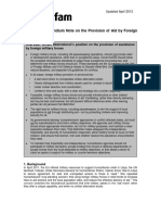 Provision of Aid by Foreign Military Forces