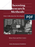 Choosing Research Methods