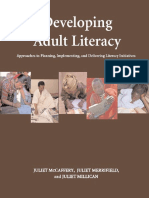 Developing Adult Literacy