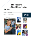 field observation packet  r  frazier