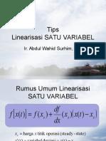 Tips Linearisasi SATUVARIABEL.ppt