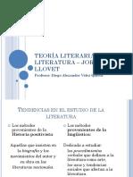 Teoría Literaria y Literatura – Jordi Llovet