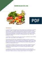 Elementos Esenciales de Los Alimentos