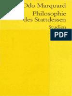 Odo Marquard-Philosophie Des Stattdessen. Studien -Reclam (2000)